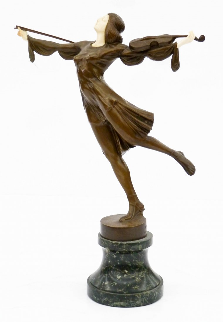 J. Ulrich (20th Cent. Austrian) Dancing Violin Player