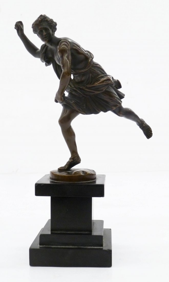 Antique Barbedienne ''Hippomenes'' Neoclassical Bronze - 3