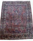Semi Antique Persian Sarouk Oriental Room Size Rug