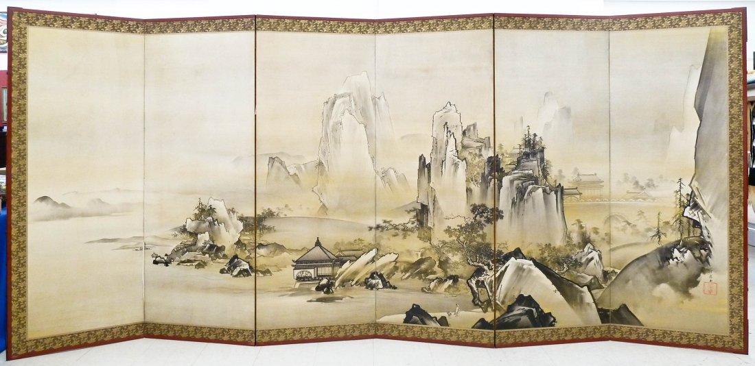 Kano Tanrei (1857-1931 Japanese) Mountainous Landscape