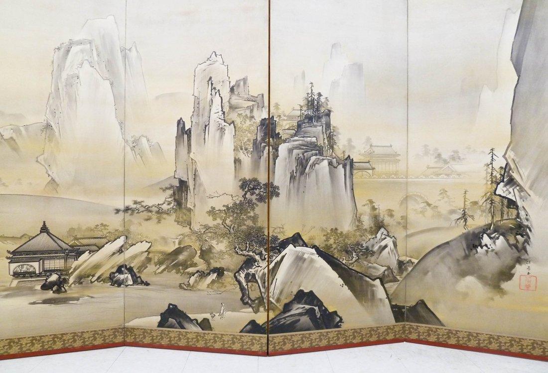 Kano Tanrei (1857-1931 Japanese) Mountainous Landscape - 2