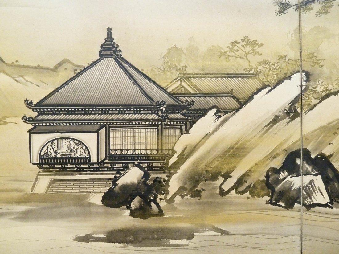 Kano Tanrei (1857-1931 Japanese) Mountainous Landscape - 3