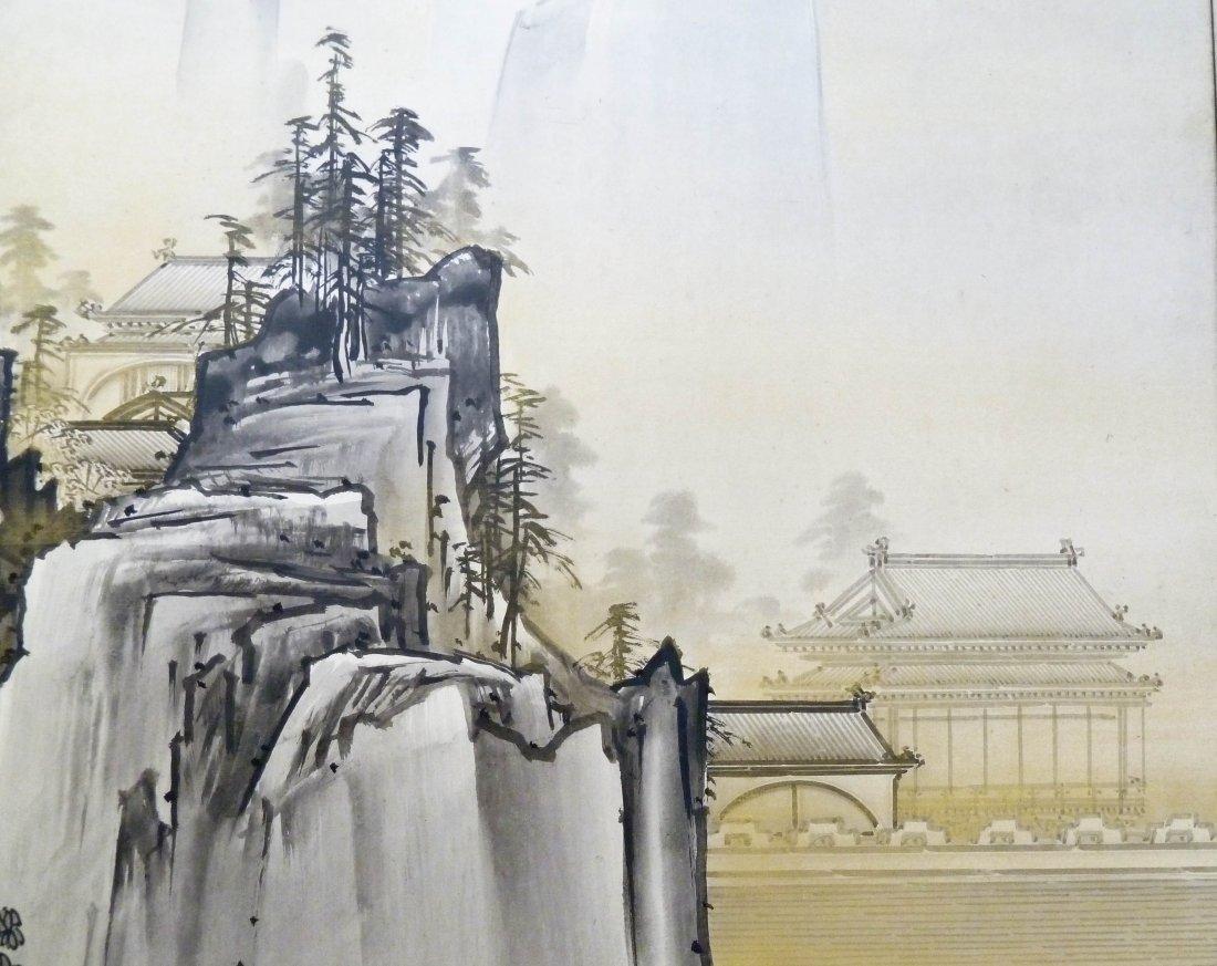 Kano Tanrei (1857-1931 Japanese) Mountainous Landscape - 4
