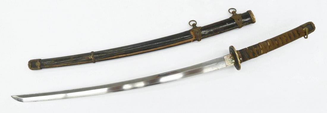 WWII Japanese Kai Gunto Naval Officer Katana Sword