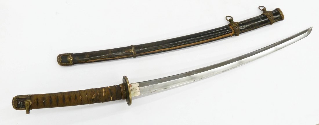 WWII Japanese Kai Gunto Naval Officer Katana Sword - 3