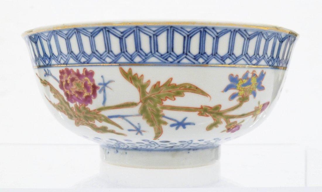 Antique Chinese Blue & White Enameled Porcelain Bowl