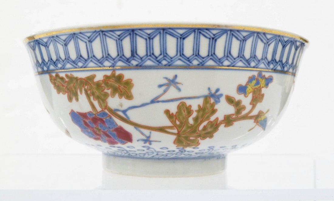 Antique Chinese Blue & White Enameled Porcelain Bowl - 2