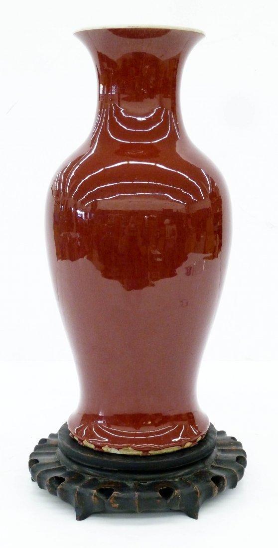 Antique Chinese Sang de Boeuf Porcelain Vase