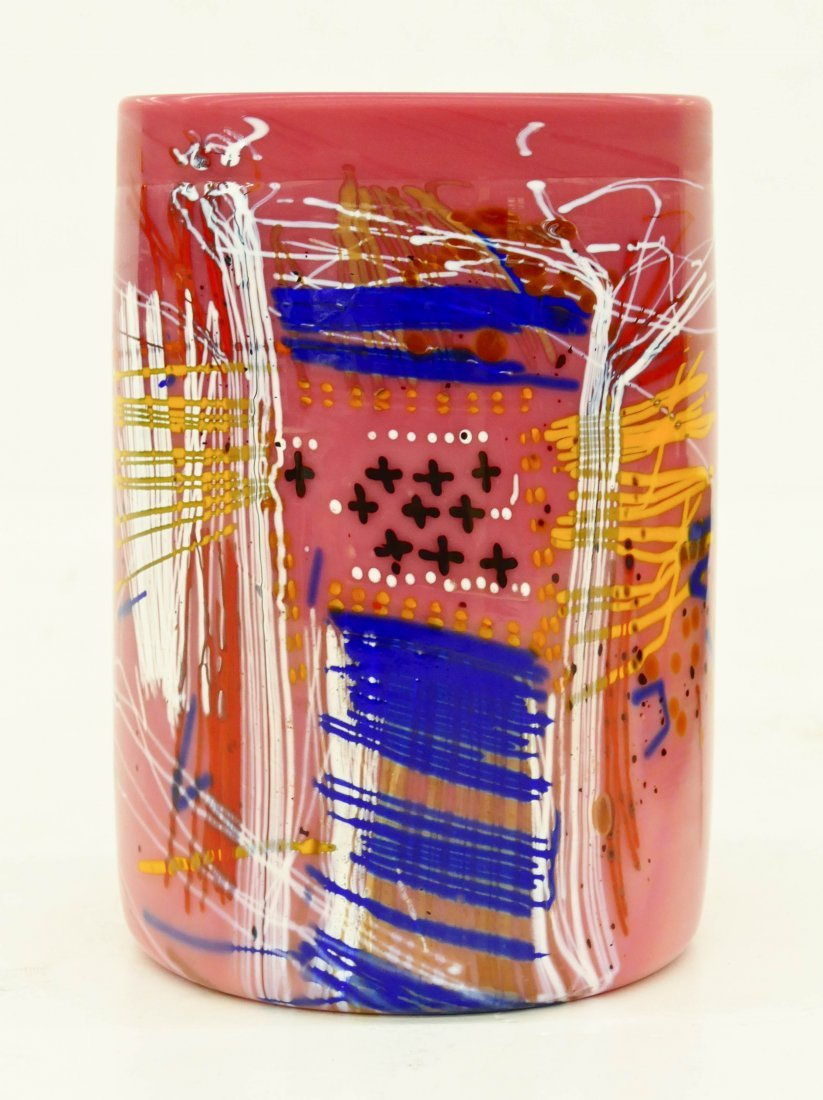 Dale Chihuly (b.1941 Washington) Blanket Cylinder 1995