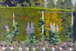 William Elston b1949 Washington Untitled Garden