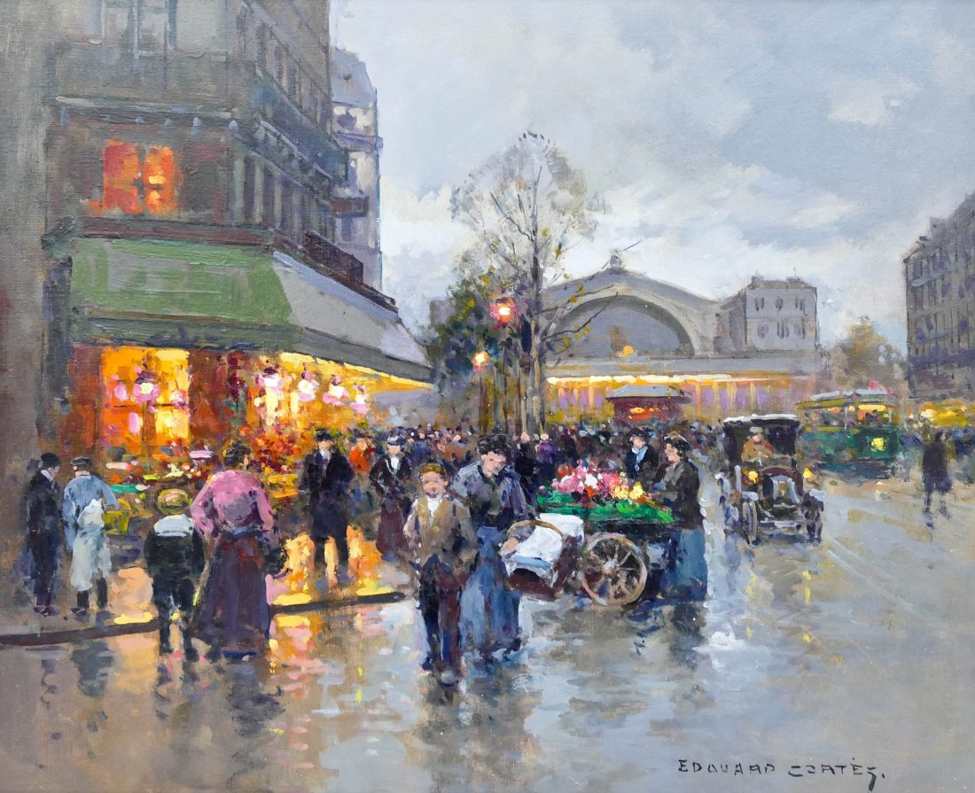 Edouard Cortes (1882-1969 French) ''Gare du Nord''
