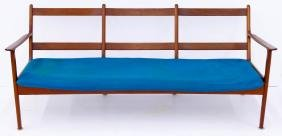 Ole Wanscher for Poul Jeppesen Teak Three Seat Sofa