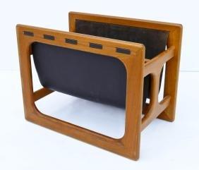 Salin Mobler Teak & Leather Magazine Rack