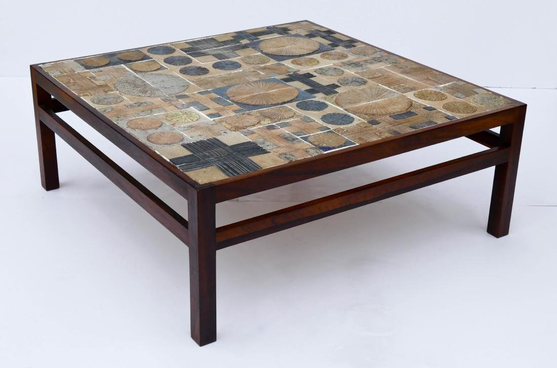 Poulsen willy beck tile top coffee table tue poulsen willy beck tile top coffee table geotapseo Choice Image