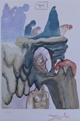 Salvador Dali ''The Corrupt'' 1964 Woodblock Print in