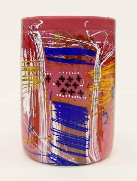 Dale Chihuly (b.1941 American) Blanket Cylinder 1995