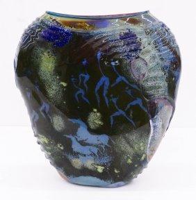 William Morris (b.1957 American) Petroglyph Vase 1987 B