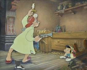 Walt Disney Pinocchio 1940 Animation Cel 11''x14''