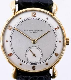 Vintage Vacheron & Constantin 18k Model 494 Wristwatch.