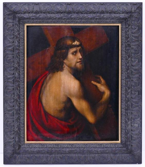 Italian School 17th Century Christ Carrying the Cross