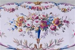 Antique French Floral Rug Pattern Gouache on Paper