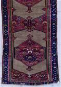 Antique Caucasian Oriental Runner Rug 34x24