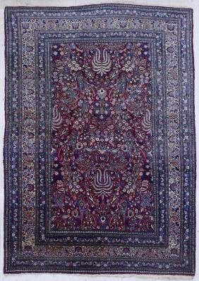 Antique Meshed Persian Oriental Rug 8'x12'. Floral