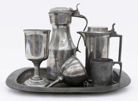 Collection of Early Continental Pewter Articles.