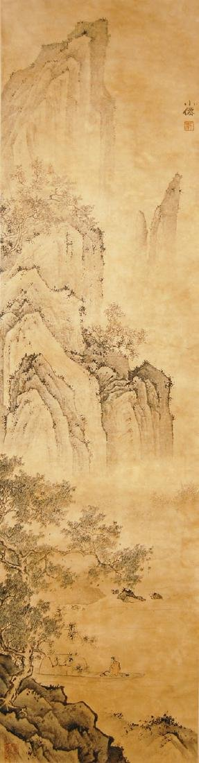 Wu Wei Ming Dynasty Boating in the Mountain