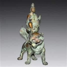 Song, A Rare Bronze Figure of Bodhisattva Manjushri