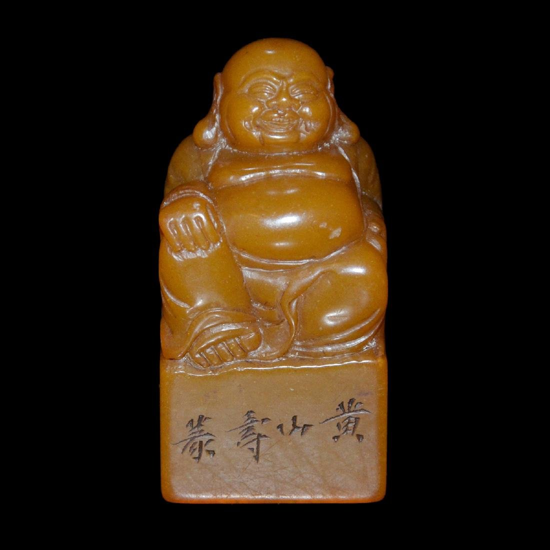 A Tianhuang Square Seal with Maitreya Knob