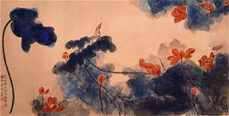 Zhang Daqian Lotus Pure and Splendid