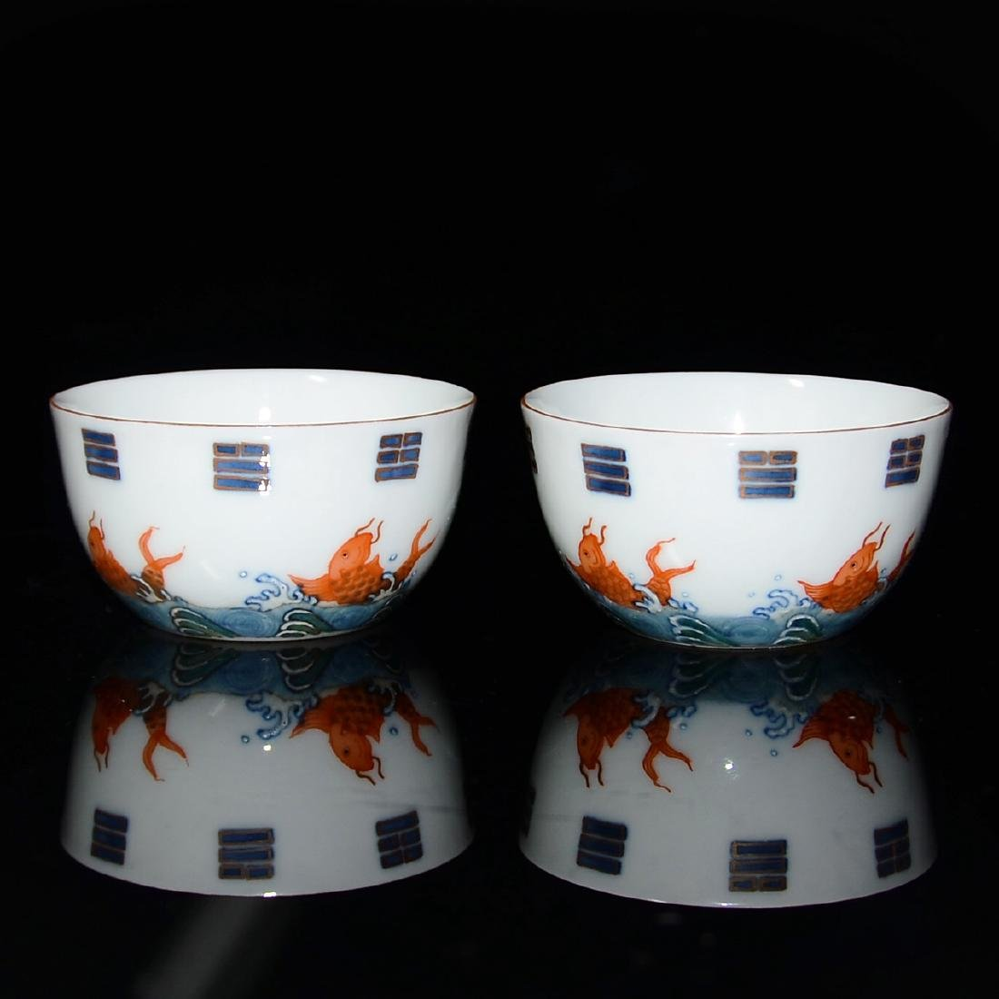 Qing, A Pair of Famille-rose with Underglazed Blue and - 2