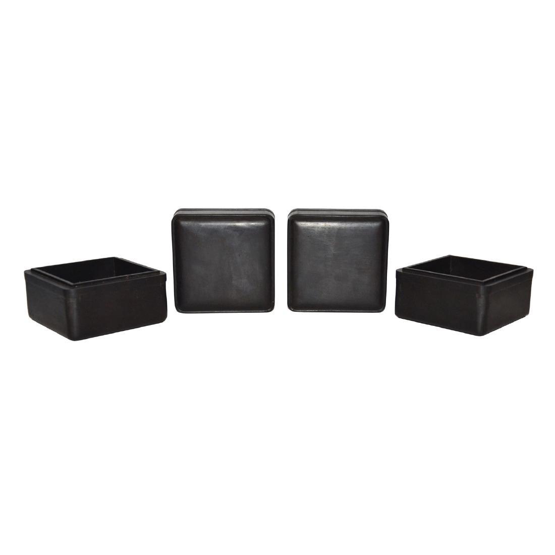 Qing, A Pair of Small Zitan Square Box - 3