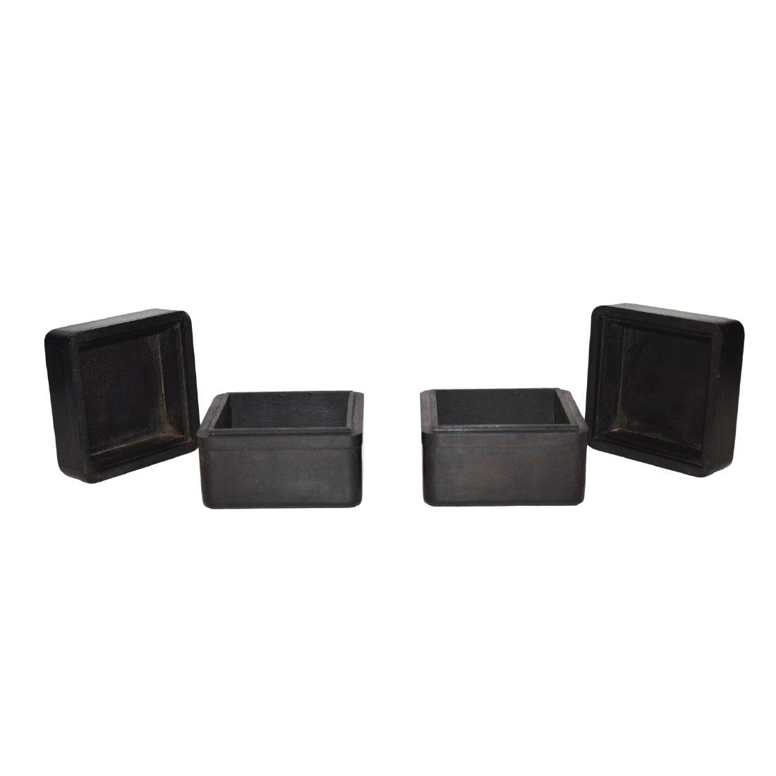Qing, A Pair of Small Zitan Square Box - 4