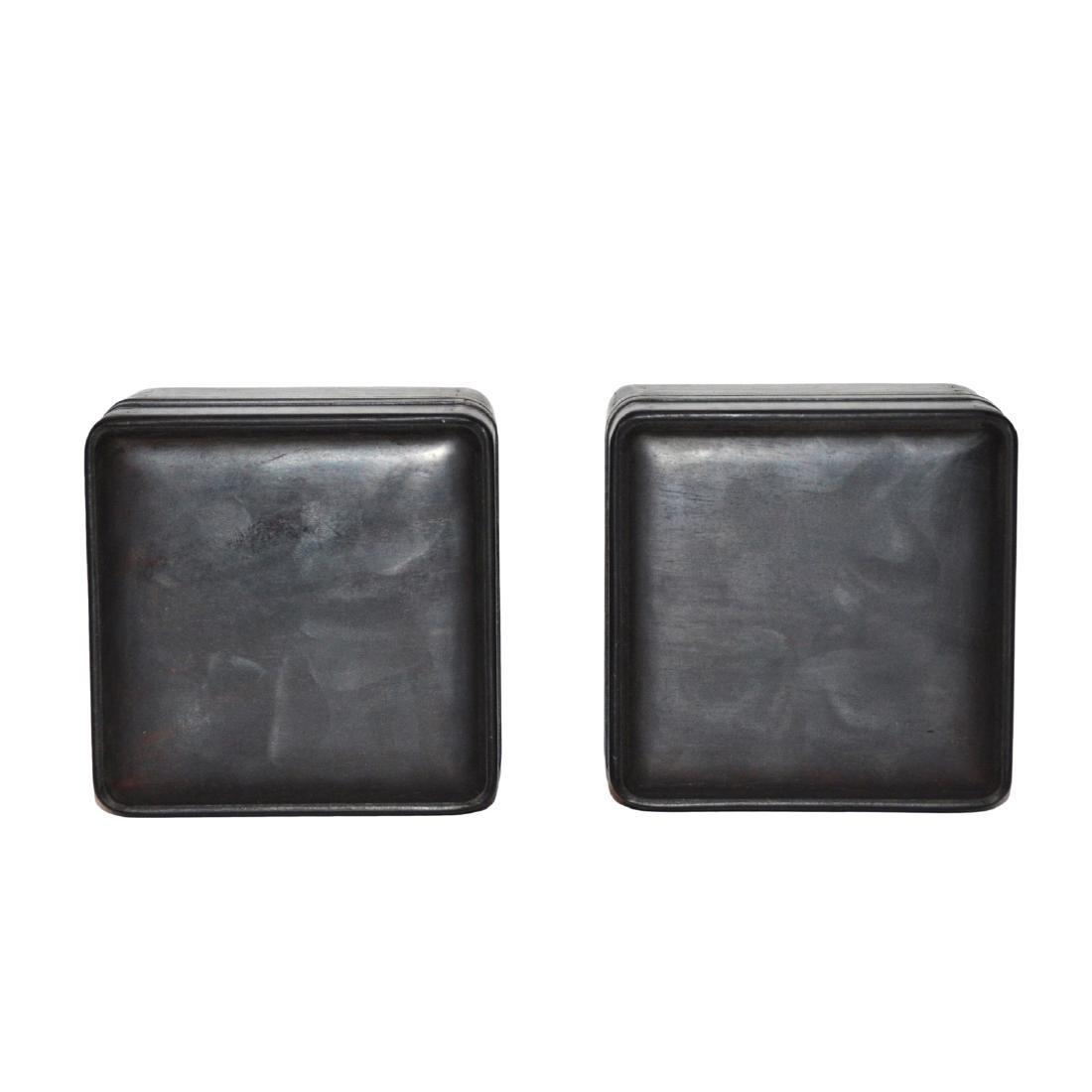 Qing, A Pair of Small Zitan Square Box - 5