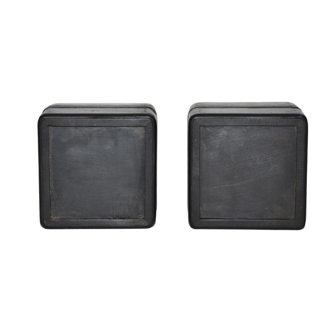 Qing, A Pair of Small Zitan Square Box - 6