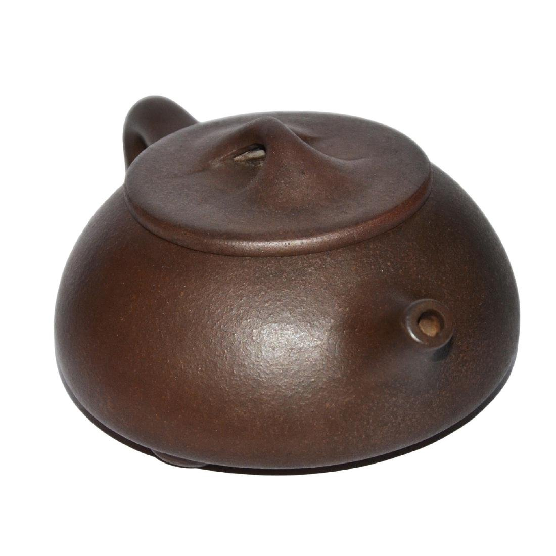 Gu Jingzhou, Stone-spoon Yixing Zisha Teapot - 3
