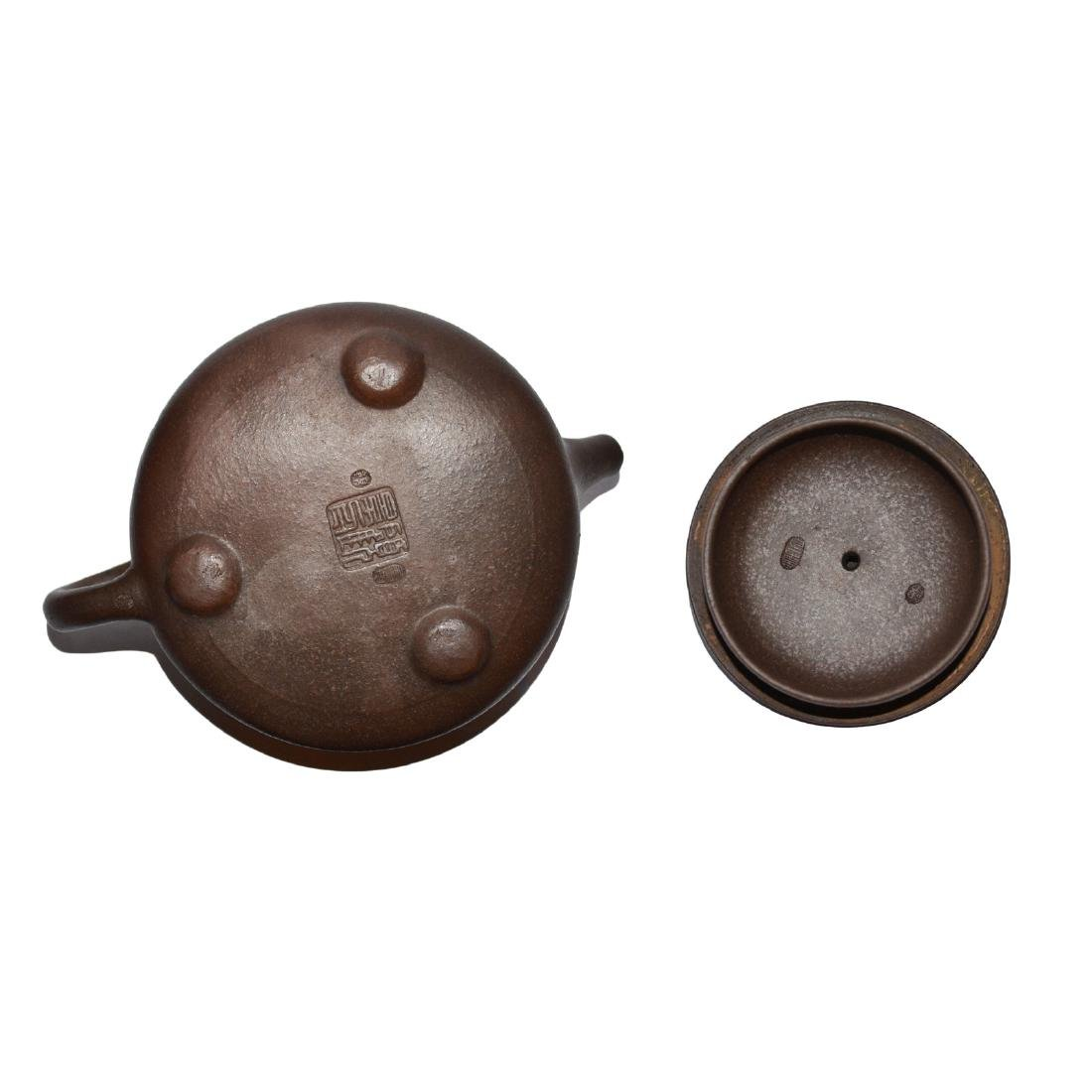 Gu Jingzhou, Stone-spoon Yixing Zisha Teapot - 5