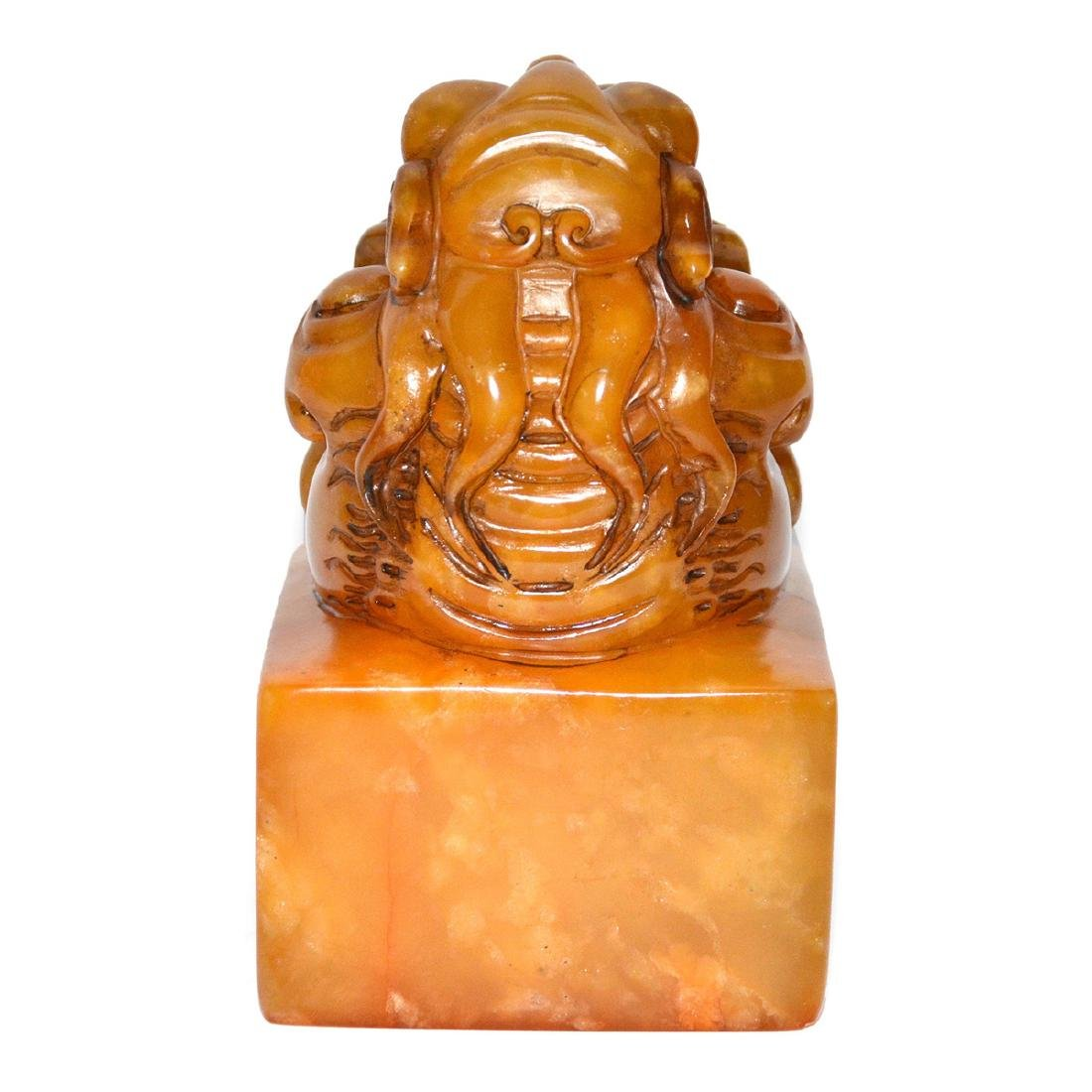 A Large Tianhuang Square Seal with Buddhist Lion - 3