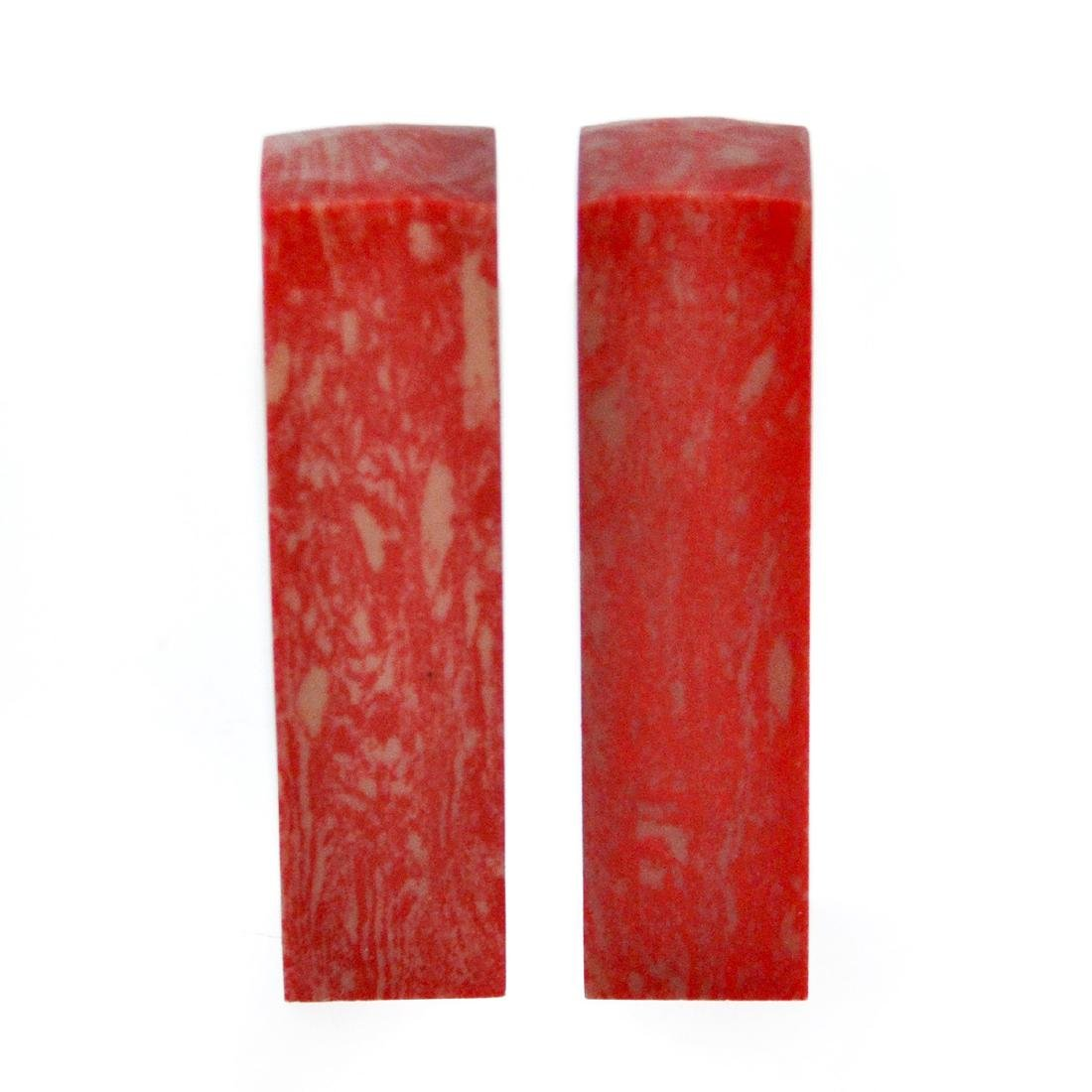A Pair of Columnar Ji Xue Stone Seals - 5