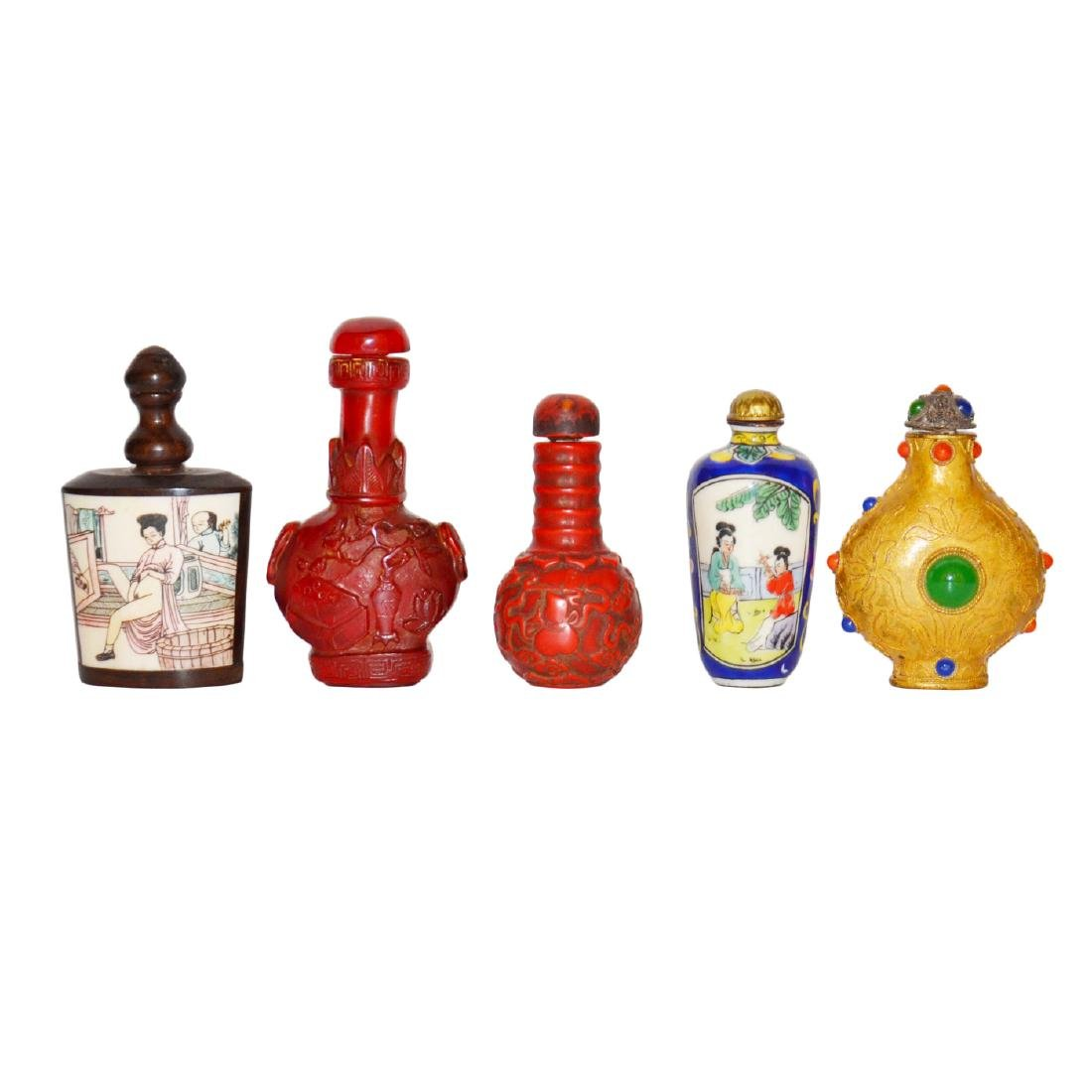 A Group of Five Snuff Bottles