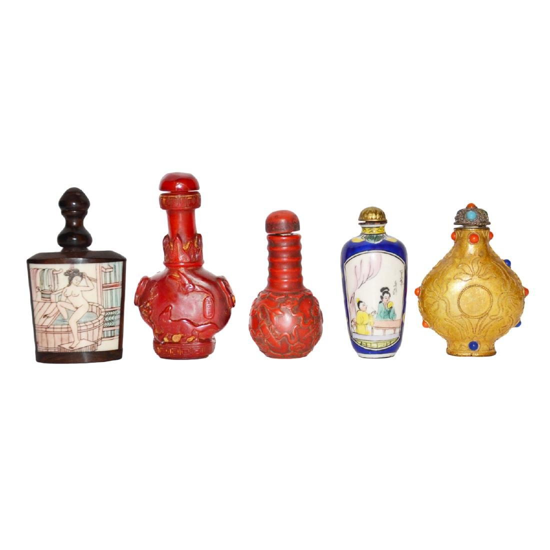 A Group of Five Snuff Bottles - 2