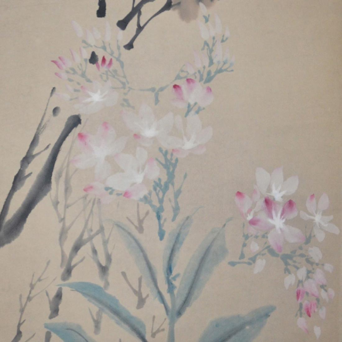 Ren Yi(Bonian) Qing Dynasty Bird and Flower - 4