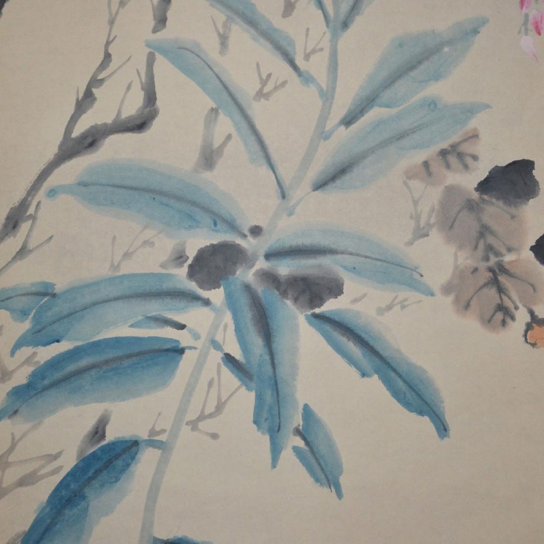 Ren Yi(Bonian) Qing Dynasty Bird and Flower - 5