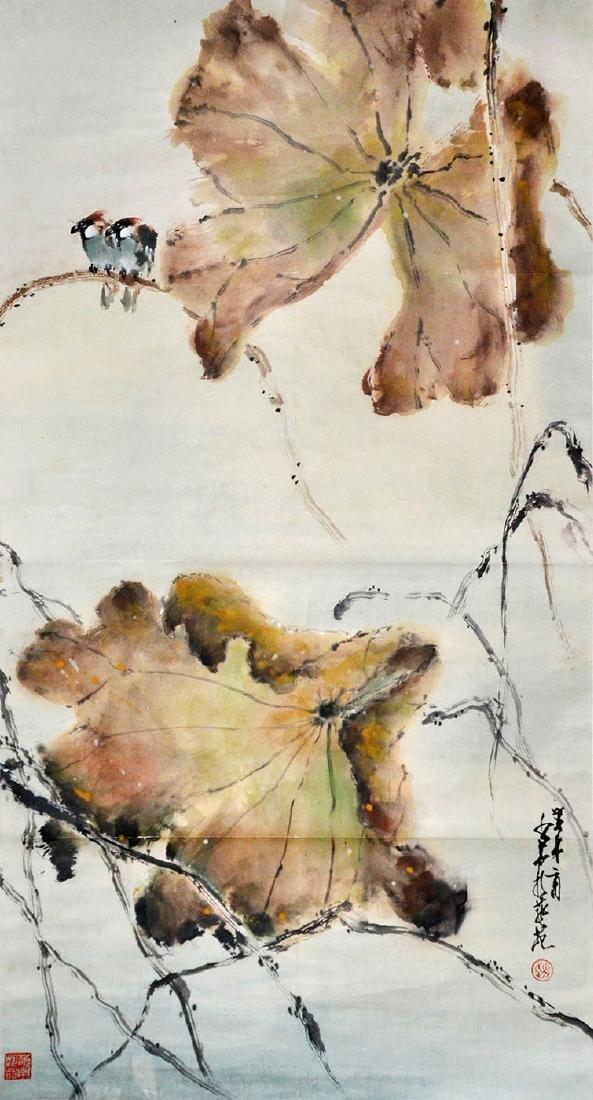 Zhao Shaoang Birds on Lotus