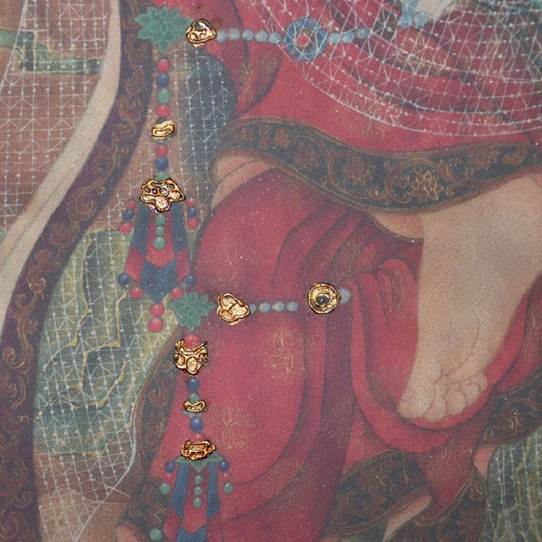 Song Dynasty, A Polychrome Stucco Fresco Panel of - 4