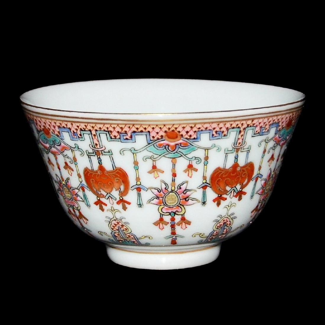 Qing, An Auspicious Emblems Famille-Rose Bowl
