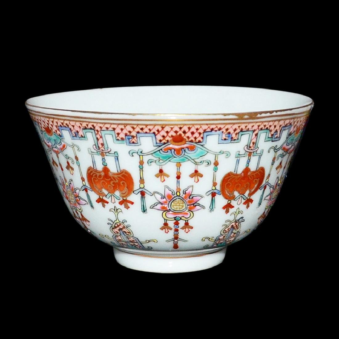 Qing, An Auspicious Emblems Famille-Rose Bowl - 2