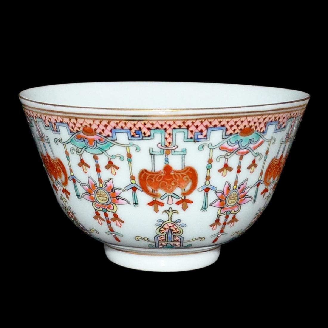 Qing, An Auspicious Emblems Famille-Rose Bowl - 3